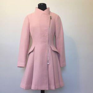 *HP* Guess Pink Textured Wool Blend Walker Coat